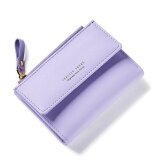ขาย Women Wallet Pu Leather Mini Coin Purses Small Zipper Short Wallets Id Credit Card Holders Fashion Cute Girls Purse Violet Intl ออนไลน์ จีน