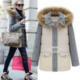 ทบทวน Women Warm Down Parkas Winter Long Coat Overcoat Jacket Fashionhooded Thick Coat Jacket Beige Intl