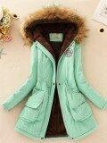 ราคา เสื้อแจ็คเก็ต เสื้อโค้ทแบบยาว สำหรับผู้หญิง ถั่วสีเขียว ถั่วสีเขียว Other ออนไลน์