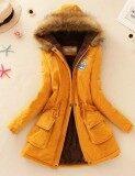 ขาย เสื้อแจ็คเก็ต เสื้อโค้ทแบบยาว สำหรับผู้หญิง เหลืองสีเหลือง เหลืองสีเหลือง Other เป็นต้นฉบับ