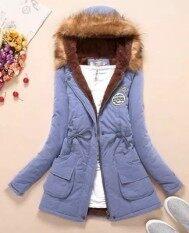 เสื้อแจ็คเก็ต เสื้อโค้ทแบบยาว สำหรับผู้หญิง Light Blue Light Blue Light Blue Light Blue ใหม่ล่าสุด