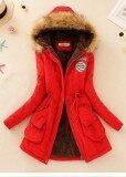 ซื้อ เสื้อแจ็คเก็ต เสื้อโค้ทแบบยาว สำหรับผู้หญิง สีแดง Red สีแดง Red ถูก ใน ฮ่องกง