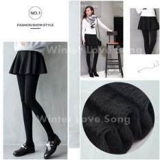 ขาย กระโปรงกางเกงเลกกิ้งบุขน ตัวติดกัน Women Winter Leggings Skinny ถุงน่องบุขน สกินนี่บุขน กางเกงเลกกิ้งบุขน กันหนาว ฟรีไซส์ รุ่น Skirt Leggings Black ใหม่
