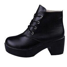 ขาย รองเท้าผู้หญิงพังค์ส้นเท้าหยาบฤดูหนาวรองเท้ารองเท้าบูทอุ่นฤดูหนาวที่อบอุ่นรองเท้า ออนไลน์ จีน
