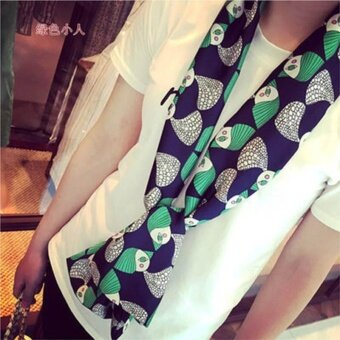 Women's Fashion New Scarf Professional Business Scarf Green Short Hair Girl - intl
