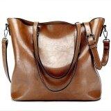 ซื้อ Women S Handbag Ladies Pu Leather Bags Women Leather Handbags Casual Tote Shoulder Bags Vintage Bag Bolsas Femininas Brown Intl ถูก จีน