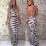 ซื้อ Women S Long Boho Evening Cocktail Party Summer Beach Maxi Dress Intl ใน จีน