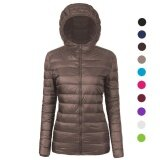 Women S Ultra Lightweight Stand Collar Down Cotton Jacket Coat Intl จีน