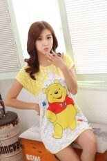 ขาย Women S Cartoon Dress Pajamas Short Sleeve Nightgown Sleepwear Loose Casual Nightdress Winnie Pooh ออนไลน์ ใน Thailand