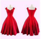 โปรโมชั่น Womens Cocktail Dresses Summer Dress Vestidos Hort Dress ชุดเดรสชุด สีแดง Red ใน ฮ่องกง