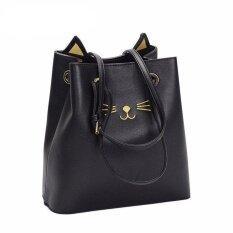ส่วนลด Womens Cute Kitty Cat Tote Handbag Black Intl Unbranded Generic