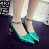 ขาย Women S High Heel Pointed Toe Ankle Buckle Strap Evening Party Dress Casual Sandal Shoes Green ใหม่