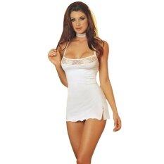 ซื้อ Women S Lace Lingerie Dress Underwear G String Babydoll Nightwear Wh L Intl