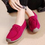 ทบทวน Women S Mocassins Leather Shoes Rose Red Intl