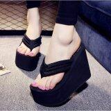 ซื้อ Women S S*xy High Heels Flip Flops Slippers Wedge Platform Antiskid Beach Shoes New Intl ถูก
