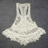 ราคา Women S S*xy Lace Crochet Hollow Sleeveless Swimwear B*k*n* Cover Up Beach Dress Unbranded Generic เป็นต้นฉบับ