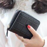 ขาย สตรีกระเป๋าสตางค์ลายง่าย ๆ เงินรูปแบบแฟชั่นมินิ สีดำ ระหว่างประเทศ ถูก Thailand