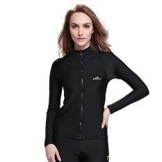 ขาย Women S Snorkeling Wetsuit Swim Shirts Tee Tops Skins Long Sleeve Rashguard Surfing Shirt Swimwear Black Sbart ใน จีน