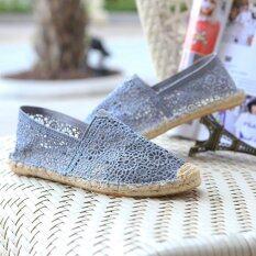 ราคา รองเท้าส้นสูงของผู้หญิงรองเท้าสบายๆรองเท้าสบายๆรองเท้าฤดูร้อนรองเท้าลำลองผู้หญิงหวานรองเท้าแบน Eu 35 นานาชาติ ใหม่