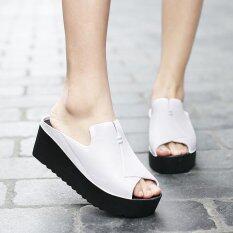 ราคา Women S Wedges Slides Mules Fahion Casual High Heels Sandals Intl ใน จีน