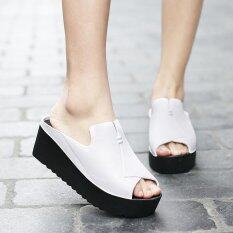 Women S Wedges Slides Mules Fahion Casual High Heels Sandals Intl เป็นต้นฉบับ