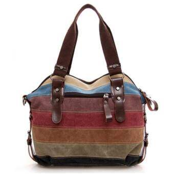 Wonderful Lifeกระเป๋าแฟชั่น กระเป๋า Big Canvas bag Rainbow Fashion Women Bag