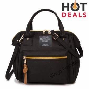 TB FASHION 3 in 1 Women Bag Top Handle Bag Women Backpack กระเป๋าสะพายไหล่ กระเป๋าเป้สะพายหลัง(black-