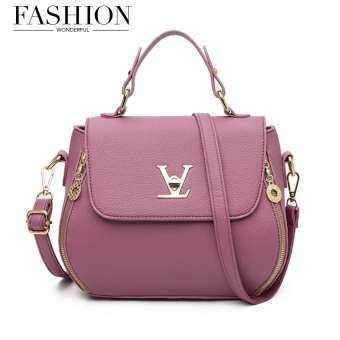 Wonderful story กระเป๋าสะพายข้าง กระเป๋าเป้ผ้าไนลอน V3-(Purple)-