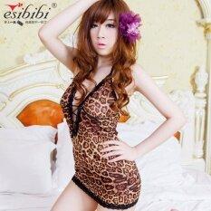 ราคา Wrap Dress Tights Dress Women Lingerie Leopard S*xy Pajamas Intl เป็นต้นฉบับ