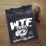 ซื้อ เสื้อยืดผู้ชาย ลาย Wtf Dark Grey ใหม่