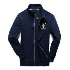 ขาย ซื้อ ฤดูใบไม้ร่วงผู้ชายเสื้อยืดคลุมด้วยผ้า สีน้ำเงินเข้ม X Maserati เวตเตอร์ถัก ใน ฮ่องกง