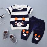 ขาย เสื้อยืดเด็กใหม่การ์ตูนหมีแขนสั้น X675 เมอิมีความสุขหมีสีน้ำเงินเข้ม ถูก ฮ่องกง