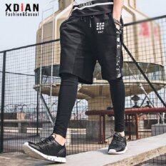 ราคา Xdian Mens Sweatpants Pants Slimming Fashion Sports Leisure Haren Running Trousers Black) Intl เป็นต้นฉบับ