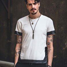ขาย Xdian Mens T Shirt Short Sleeve Tops Casual Shirt Round Neck Summer Tees(White Intl Thailand ถูก