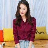 ส่วนลด เสื้อเชิ้ตเกาหลีเสื้อผ้าฝ้ายหญิงแขนยาว Hong สีฟ้า