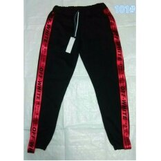 ซื้อ Y55 กางเกงขายาว กางเกงแฟชั่นเกาหลี แถบสีแดง 101 Ljy ออนไลน์
