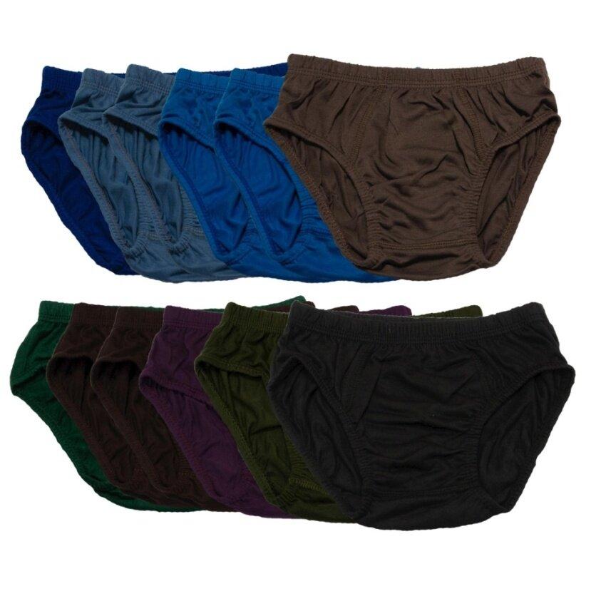YANO กางเกงในเด็ก คละสี แพ็ค 12 - Children Underwear, Assorted Colors, Pack of 12
