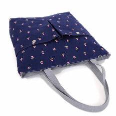 Ybc แฟชั่นผ้าใบกระเป๋ากระเป๋าถือน่ารักกระเป๋านักเรียนหญิงสีฟ้า.
