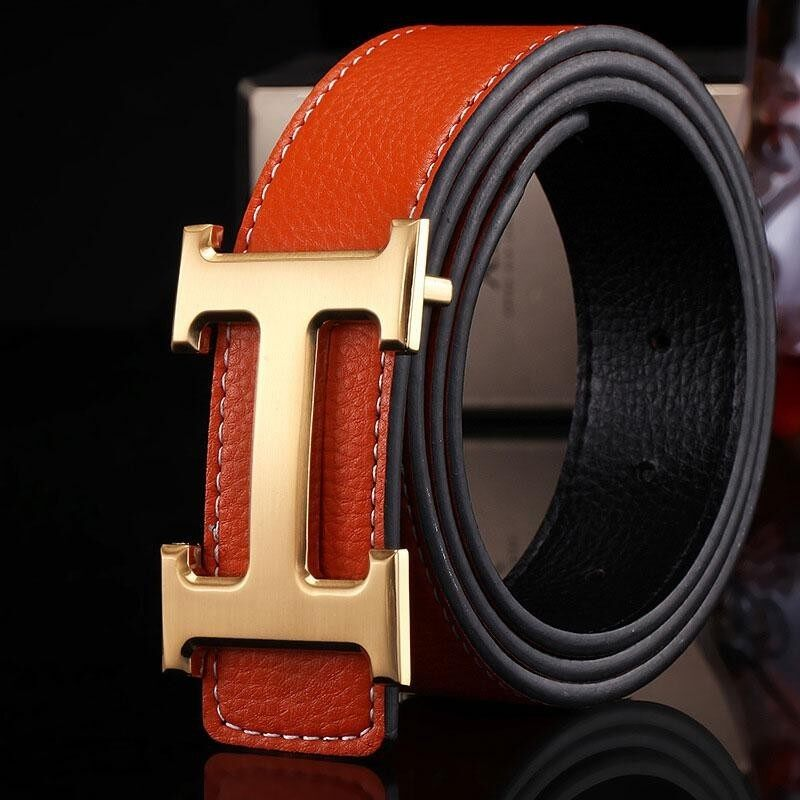 YBC New Style Business Leisure Genuine PU Leather H Smooth Buckle Litchi Grain Belt for Men – intl