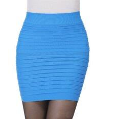 ซื้อ Ybc ผู้หญิงแฟชั่นสำนักงานสวมกระโปรงดินสอกระโปรงเฒ่ากระโปรงสีฟ้า นานาชาติ ถูก ใน จีน