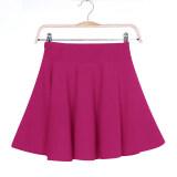 ซื้อ Ybc Women S*xy Mini Short Skirts Stretch High Waist Pleated Skirt Rose Red ถูก
