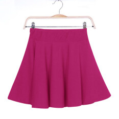 ขาย Ybc Women S*xy Mini Short Skirts Stretch High Waist Pleated Skirt Rose Red ใหม่