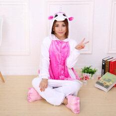 โปรโมชั่น Yika ชุดคอสเพลย์ชุดนอนผู้ใหญ่เพศยูนิคอร์น Onesie ชุดนอน S Xl สีชมพู Yika ใหม่ล่าสุด