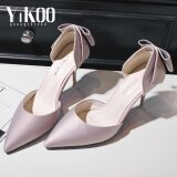 ขาย Yikoo Women S Pumps Party Shoes Pointed Toe High Heels Satin High Heeled Sandals Korean Style Pink Intl Yikoo เป็นต้นฉบับ