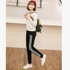 ซื้อ Yingwei Fashion Girls Ladies Casual Harlan Pants Female Loose Cotton Sports Pants Slim Sweatpants Long Trousers Black Intl ถูก