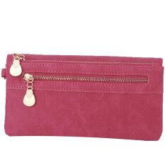 ส่วนลด Yingwei High Quality Ladies Pu Leather Wallet Portable Purse Rose Red Yingwei ใน จีน