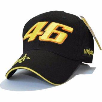 Yingwei กีฬาเบสบอลหมวกตวัดกลับหมวกกระดูก Hip กระโดดเย็บปักถักร้อยประณีต VR46 หมวกหมวกหมวกรถจักรยานยนต์หมวกแข่ง (สีดำ)