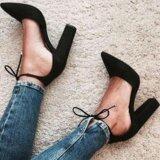 ขาย Yingwei แฟชั่นฤดูร้อนของผู้หญิงชี้รองเท้าส้นสูงเลดี้ ตื้นปาก Suedethick Heel Sandals สีดำ Yingwei
