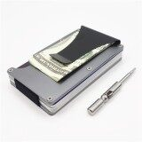 ขาย Yixiangqing 2017 New Metal Mini Money Clip Brand Fashion Men Id Credit Card Holder Rfid Wallet Anti Chief Card Case Grey Intl Yixiangqing