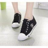 ขาย You Shoes รองเท้าผ้าใบผู้หญิง Leemo 9107 สีดำ Leemo เป็นต้นฉบับ
